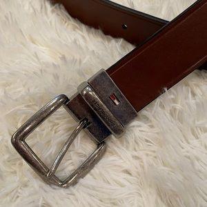 Tommy Hilfiger Brown Leather Belt 40